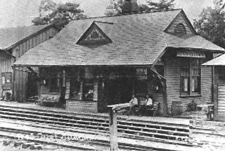 Historic ermantown train station (the current station is a replica of the historic one)